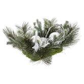 Silver Ornament & Pine Topper