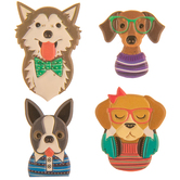 Dogs Puffy Stickers