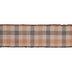 Orange & Brown Plaid Wired Edge Ribbon - 2 1/2