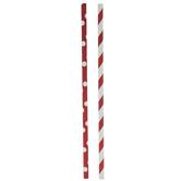 Red & White Dots & Striped Paper Straws