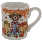 Dog In Overalls Mug
