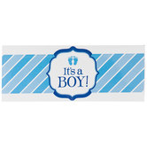 It's A Boy Water Bottle Wraps