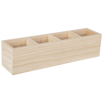 Rectangle Compartment Wood Box