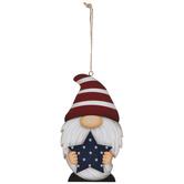 Red Striped Hat Gnome Ornament