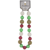 Red & Green Bubblegum Bead Necklace
