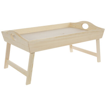 Wood Tray With Folding Legs