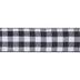 Black & White Buffalo Check Wired Edge Ribbon - 2 1/2