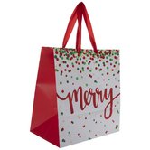 Metallic Polka Dots Merry Gift Bag
