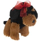 Black & Brown Dog Plush