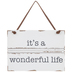 It's A Wonderful Life Wreath Embellishment