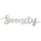Serenity Wood Word Decor