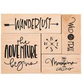Wanderlust Rubber Stamps