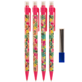 Watercolor Flowers Mechanical Pencils - 4 Piece Set