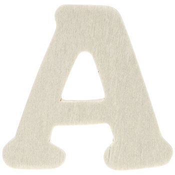 """Wood Letters A - 1 3/4"""""""