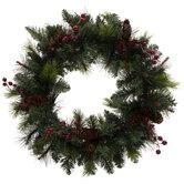 Donner Wreath With Pinecones & Berries