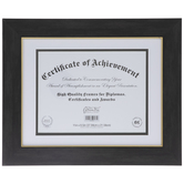 "Black & Gold Document Frame - 11"" x 8 1/2"""