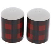 Red & Black Buffalo Check Salt & Pepper Shakers