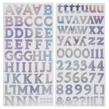 Holographic Monster Alphabet Stickers - 1""