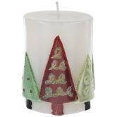Christmas Tree Pillar Candle