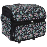 Floral Sewing Machine Rolling Tote Bag