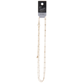 Bar & Ball Chain Necklace