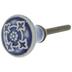 Blue & Gray Medallion Round Knob