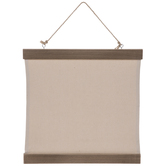 Cotton Canvas Hanging Wood Wall Decor