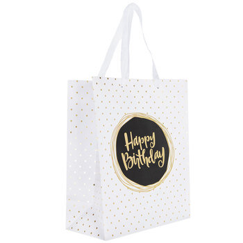 Happy Birthday Polka Dot Gift Bag