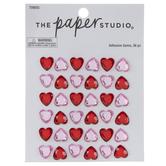 Red & Pink Heart Rhinestone Stickers