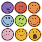 Smiley Face Foam Stickers