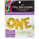 Gold Foil One Word Balloons