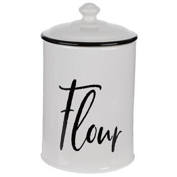 Black & White Flour Cannister