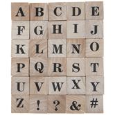 UppercaseSerif Alphabet Rubber Stamps