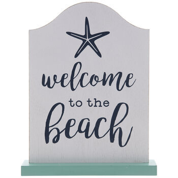 Welcome To The Beach Wood Decor