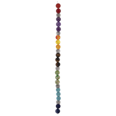 Multi-Color Dyed Stone & Metal Round Bead Strand