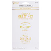 Essential Christmas Greetings Glimmer Hot Foil Plates