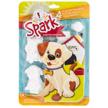 Dog Plaster Magnets with Paint
