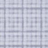 White & Gray Brush Plaid Duck Cloth Fabric