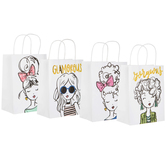 Girls Foiled Craft Gift Bags
