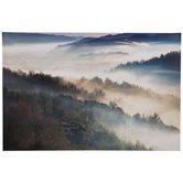 Foggy Mountainside Canvas Wall Decor