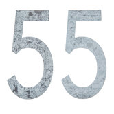 Galvanized Metal Numbers - 4""