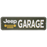 Green & White Jeep Garage Metal Sign