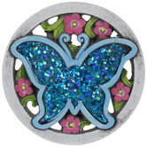 Blue Sequin Butterfly Stepping Stone