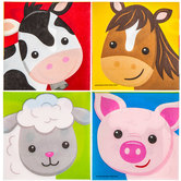 Barnyard Birthday Animal Face Napkins - Small