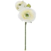 White Ranunculus Pick
