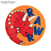 Rawr Triceratops Paper Plates - Small
