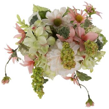 Peach Zinnia, Hydrangea & Daisy Bush