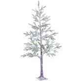 Snowy Pine Pre-Lit Christmas Tree - 6'