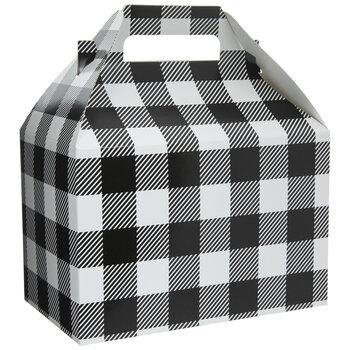 Black & White Buffalo Check Gable Box