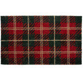 Red & Green Christmas Plaid Doormat